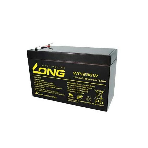 Long WP1236W battery 12V / 9Ah