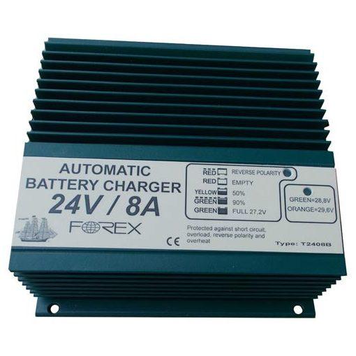 Forex rokkantkocsi akkumulátor töltő 24V 8A