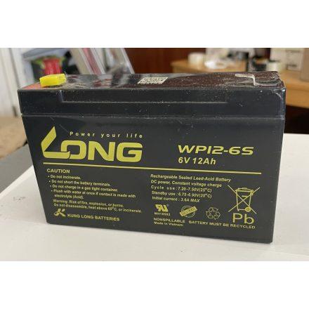 LONG 6V 12Ah akkumulátor