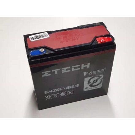 ZTECH (6-DZF-22.3) 12V 22Ah elektromos kerékpár akkumulátor